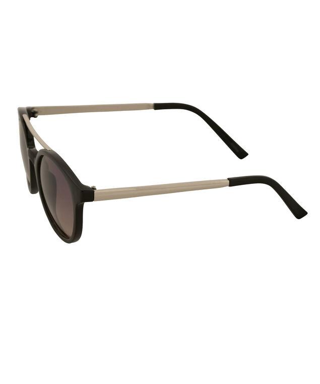 Contrast Arm Sunglasses, Black/Silver, hi-res