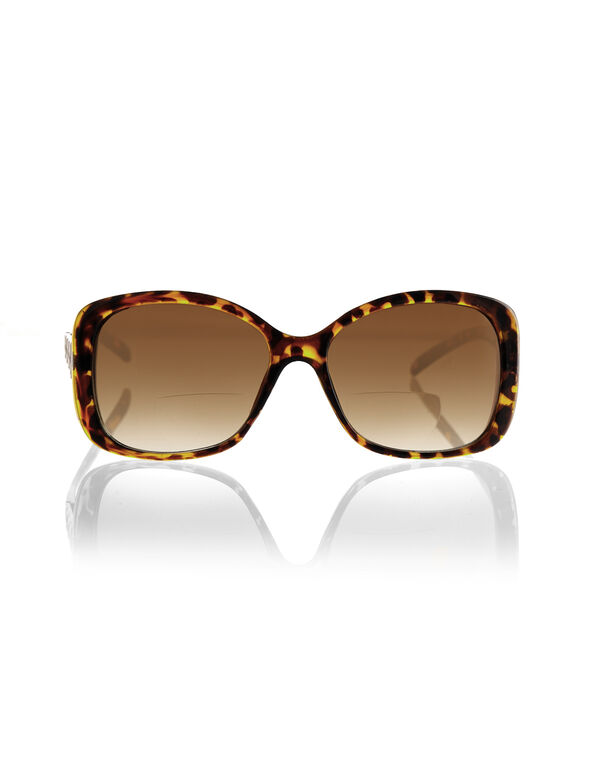 Brown Bifocal Sunglasses, Brown/Black, hi-res