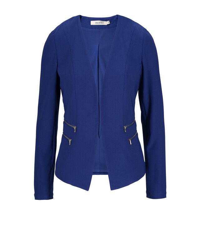 Zipper Detail Blazer, Ultra Blue, hi-res