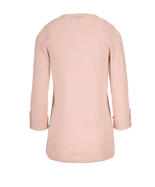 Roll Sleeve Cardigan, Misty Pink, hi-res