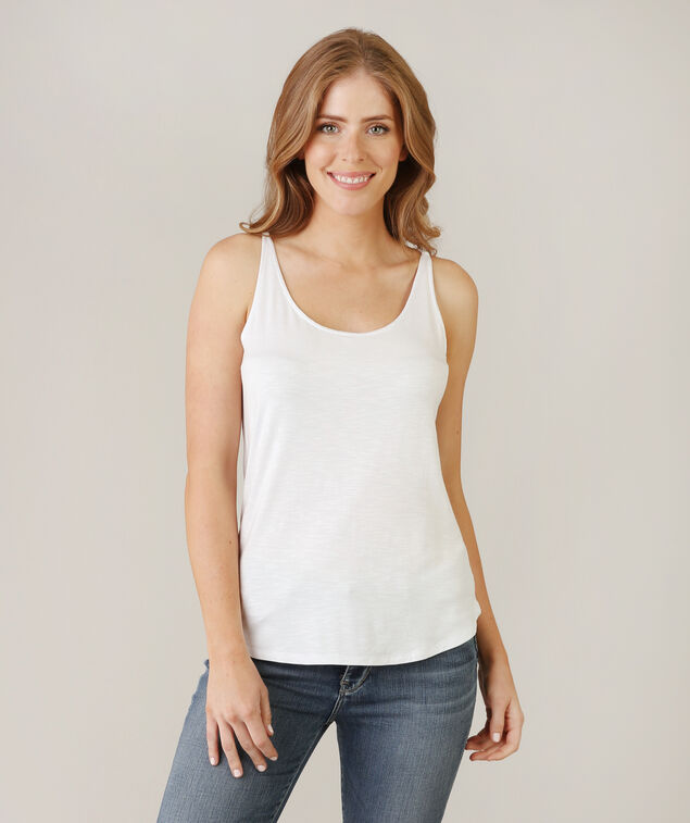 tank with double back straps - wb, WHITE, hi-res