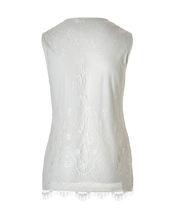 Floral Print Lace Top, Yellow/Ivory/Grey, hi-res