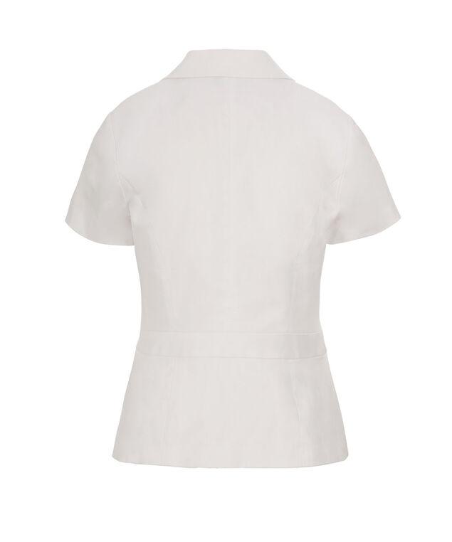 Cotton Sateen Blazer, True White, hi-res