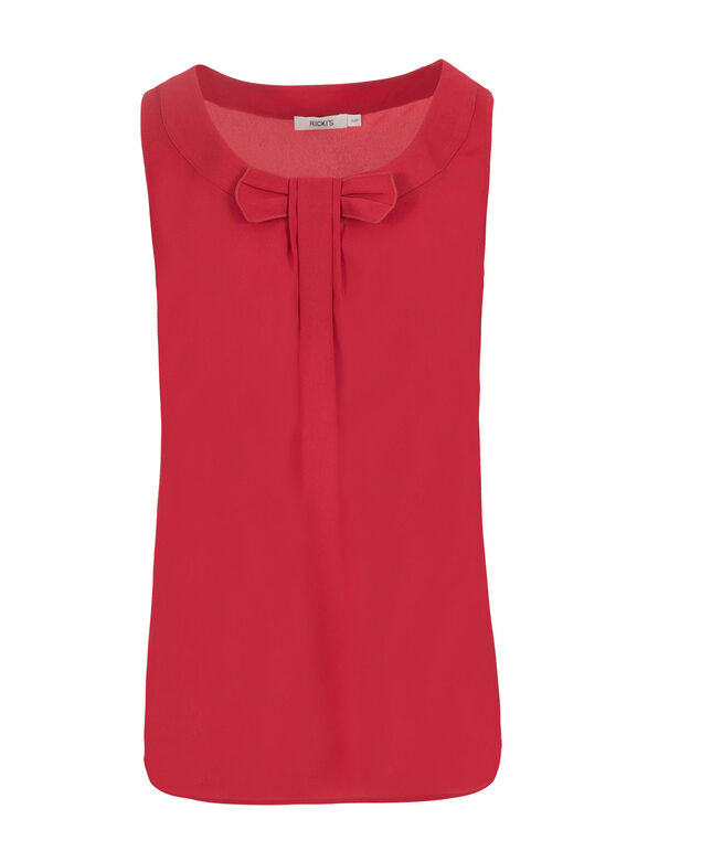Bow Front Blouse, Red, hi-res