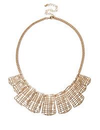 Gold Open Cross Collar Necklace