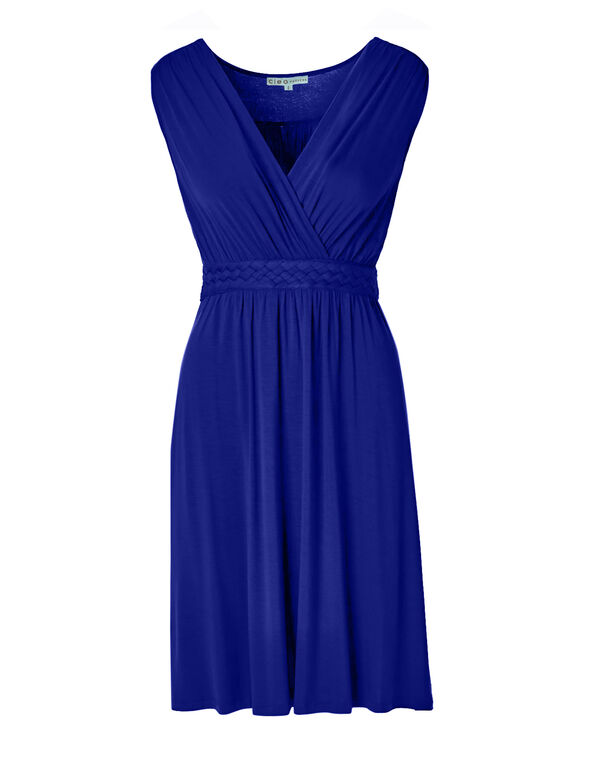 Cobalt Braided Waist Dress, Cobalt Blue, hi-res