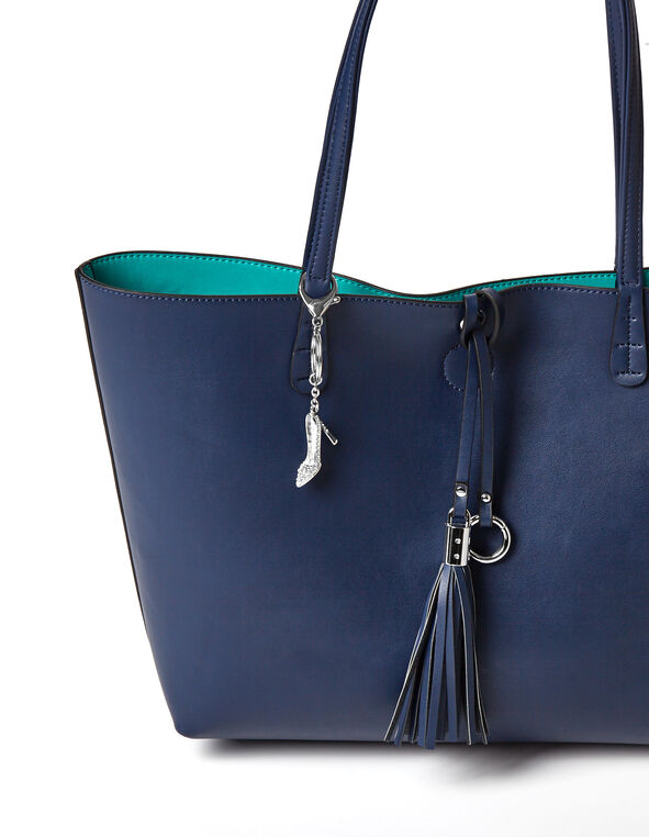 Silver Shoe Handbag Charm, Silver, hi-res
