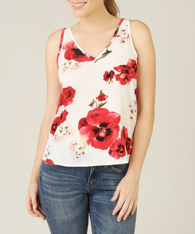 criss cross tank - wb, POPPY PRINT, hi-res