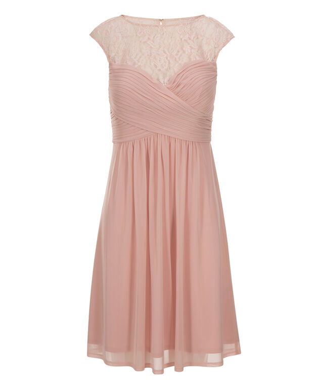 Sweetheart Lace Dress, Blush Pink, hi-res