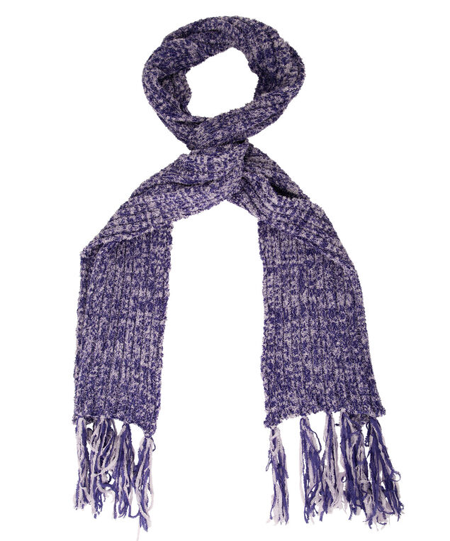 Plush Fringe Scarf, Royal Purple/Violet, hi-res