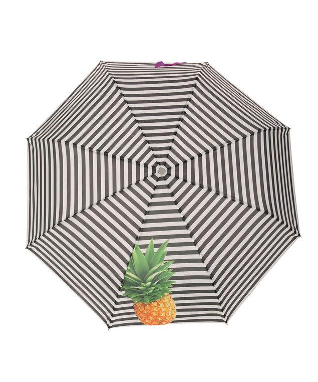 Pineapple Stripe Umbrella, Green/Black/White, hi-res