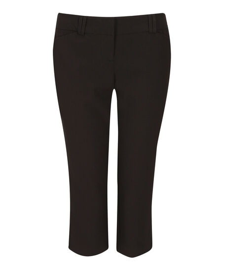 black slant pocket capri, Black, hi-res