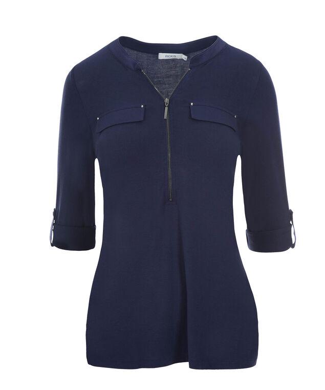 Roll Sleeve  Zip Top, Deep Blue, hi-res