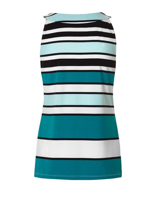 Mixed Stripe Halter Top, Rio Frio/Navy/White/Mint, hi-res