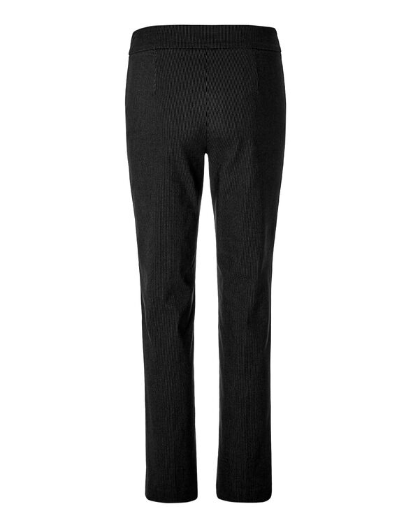 Black Pinstripe Signature Pant, Black/White, hi-res