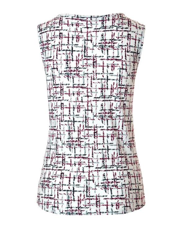Claret Print Chain Top, Ivory/Claret/Grey, hi-res