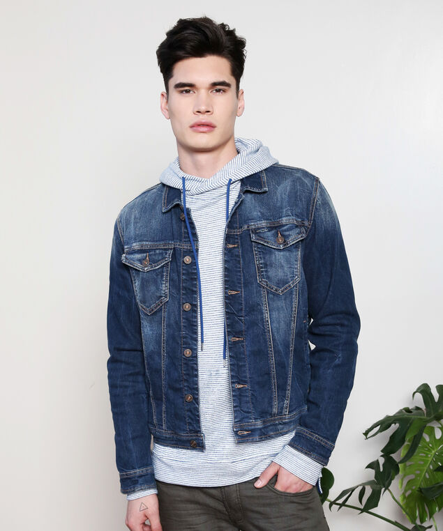 denim jacket dsw, DARK STONEWASH, hi-res