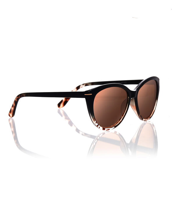 Cat Eye Tortoise Shell Sunglasses, Black, hi-res