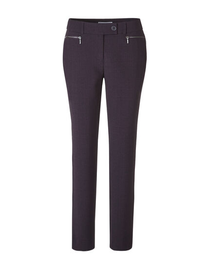 Plum Slim Leg Pant, Deep Plum, hi-res
