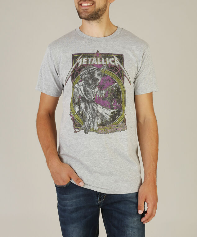 metallica tee, HEATHER GREY, hi-res