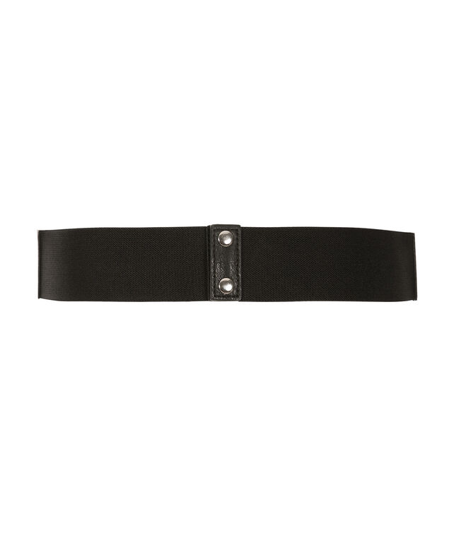 Pull Through Tab Buckle Belt, Black, hi-res