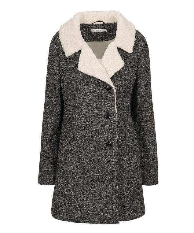 Knit Sherpa Jacket, Grey, hi-res
