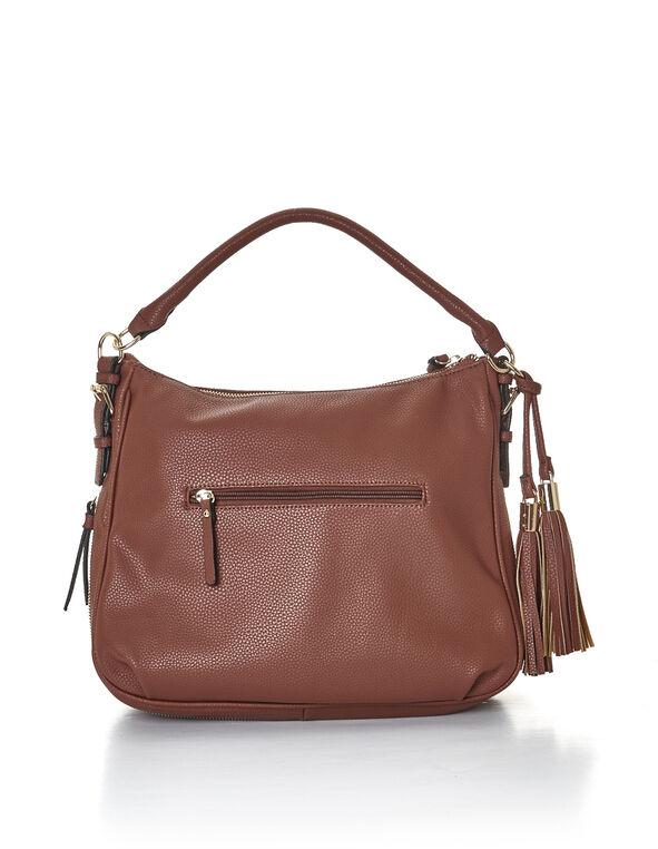 Brandy Hobo Tassel Bag, Brandy/Gold, hi-res