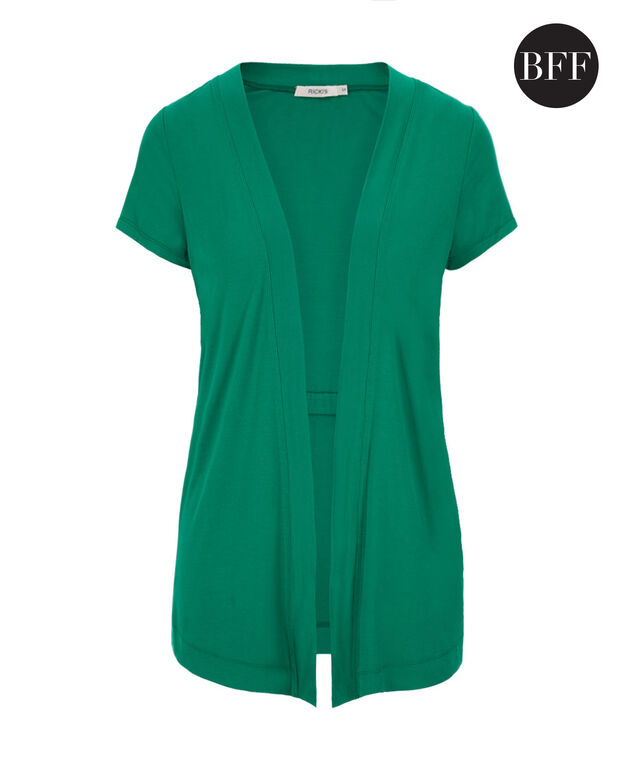 Short Sleeve Cover Up, Sea Green, hi-res
