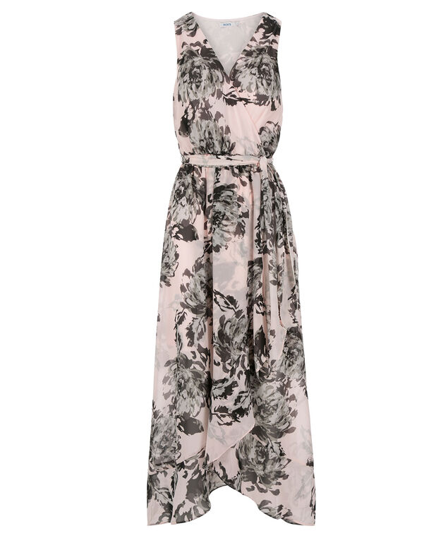 Tulip Skirt Maxi Dress, Soft Pink Print, hi-res