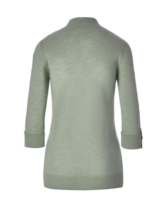 Sage Lightweight Topper Sweater, Sage, hi-res