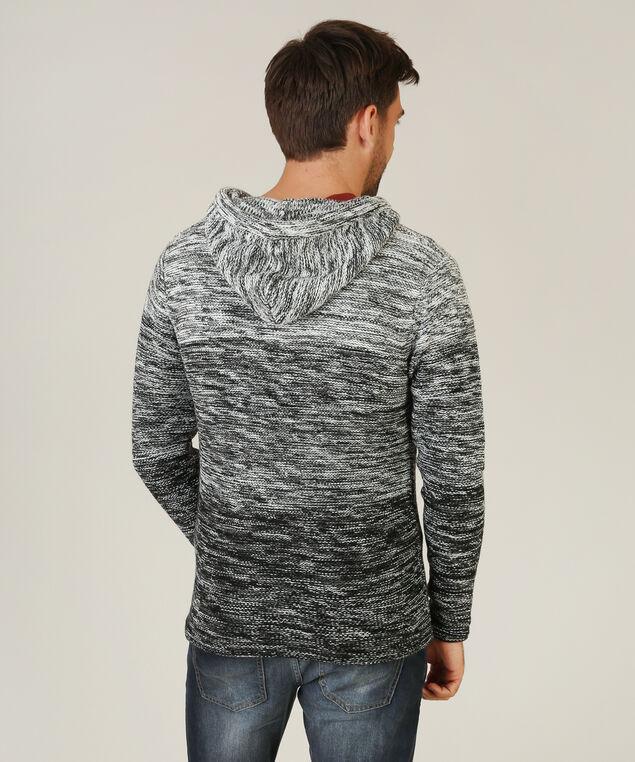 striped zip up hoody, BLACKSTRIPE, hi-res