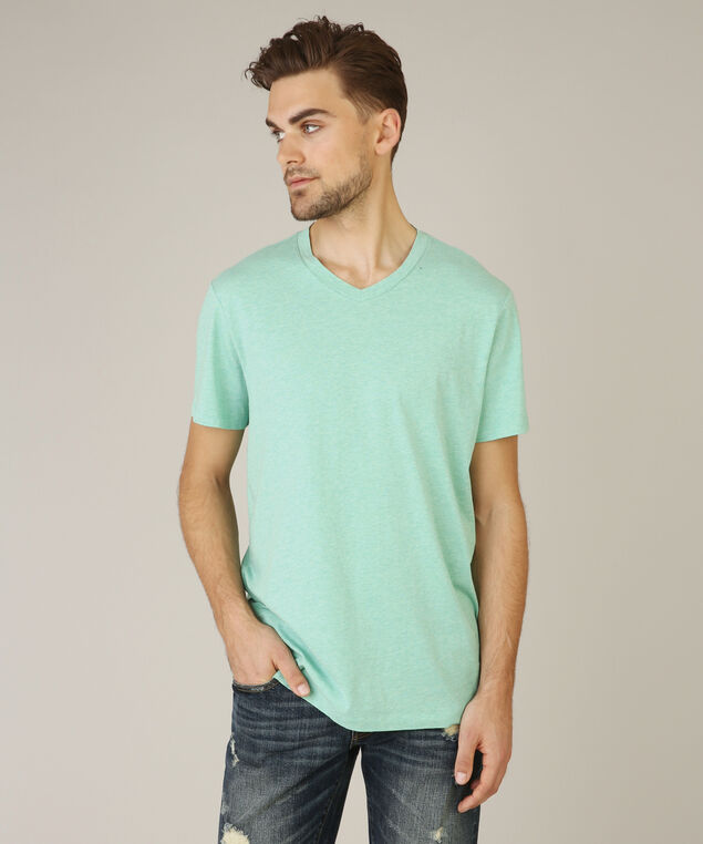 owen v neck tee, POOL BLUE, hi-res