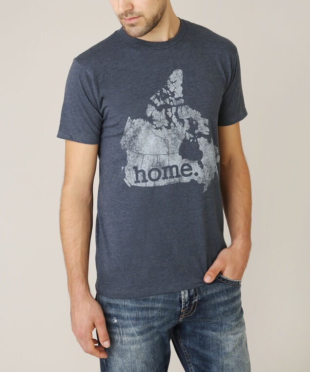 canada home tee, NAVY HEATHER, hi-res