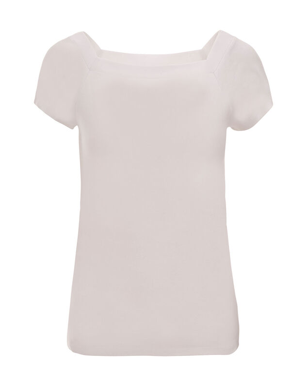 Square Neck Tee, True White, hi-res