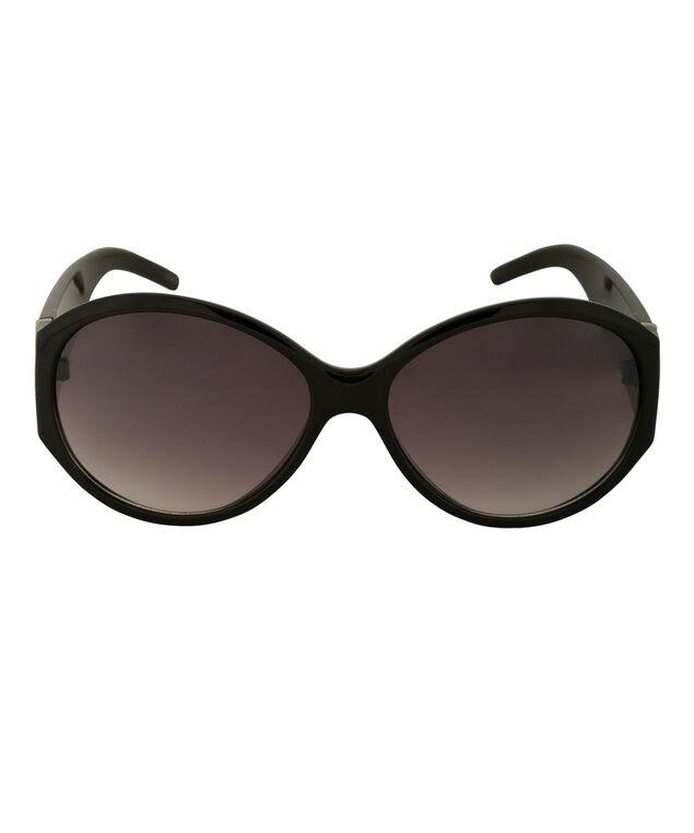 Bling Arm Detail Sunglasses, Black, hi-res