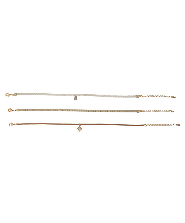 3pc choker set, WHITE/GOLD, hi-res