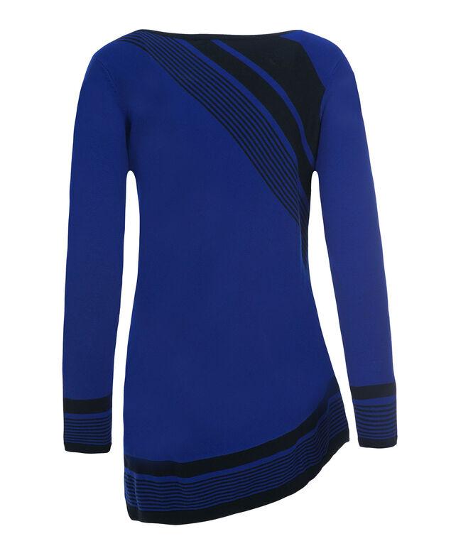 Asymmetric Stripe Tunic, Sapphire, hi-res