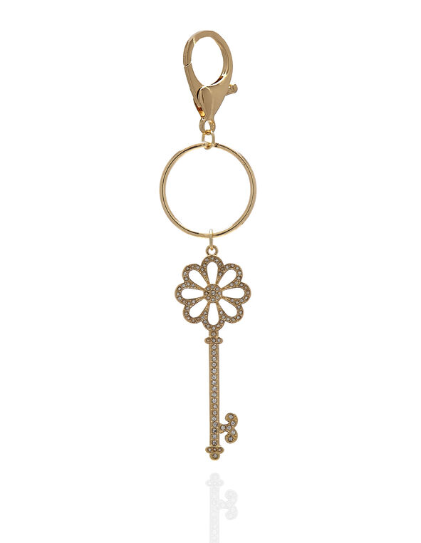 Gold Key Handbag Charm, Gold, hi-res