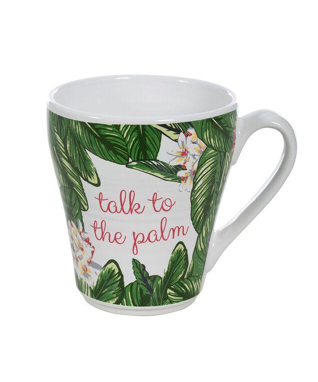 Talk To The Palm Mug, Green/White/Pink, hi-res