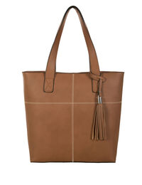 Stitch & Tassel Tote Bag