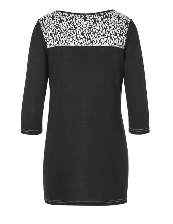 Animal Print Tunic, Black/White, hi-res