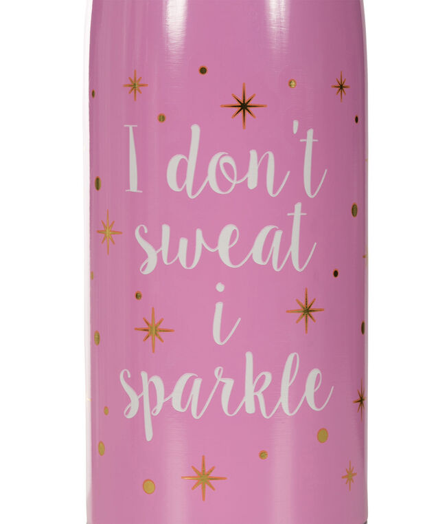 Sparkle Water Bottle, Pink/White, hi-res
