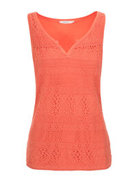 Crochet Notch Neck Tank