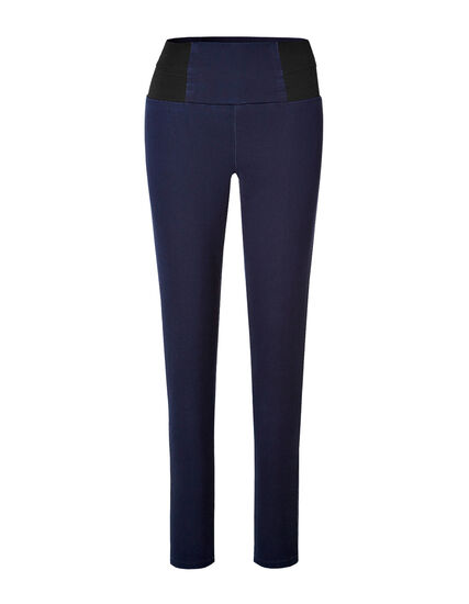 Indigo High Waisted Pull-On Jegging, Indigo/Black, hi-res