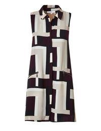 Claret A-Line Shirt Dress