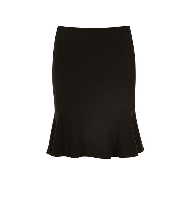 Tri-blend Flounce Skirt, Black, hi-res
