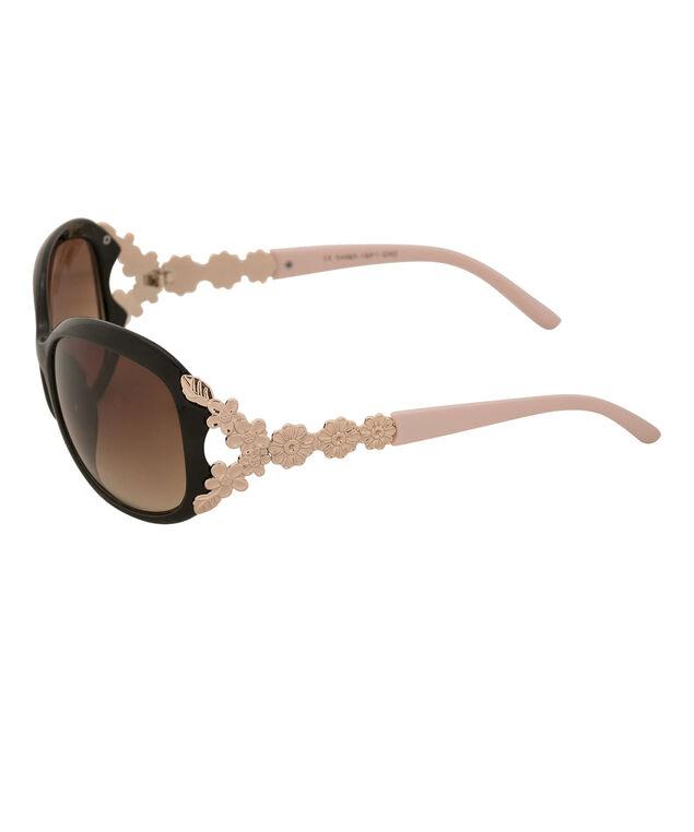 Floral Arm Detail Sunglasses, Pink/Black/Silver, hi-res