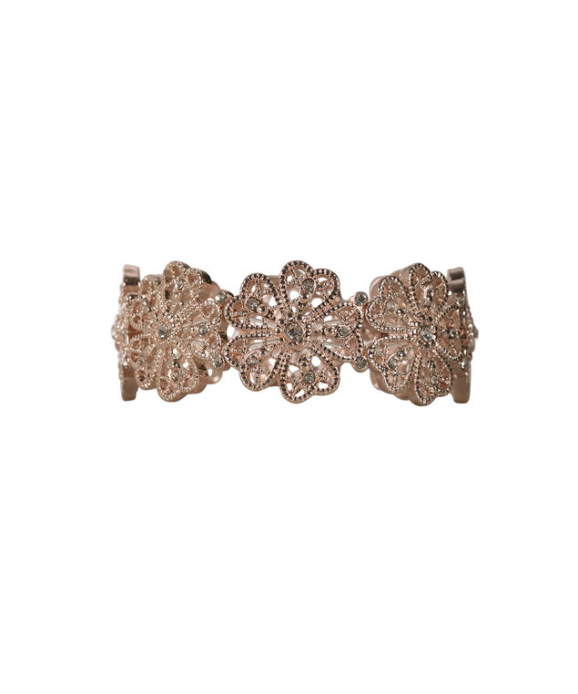 Cutout Flower Bracelet, Rose Gold, hi-res