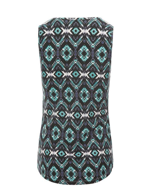 Crochet Trim Cha Cha, Aqua Print, hi-res