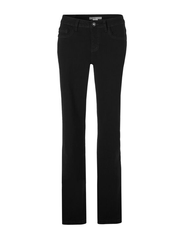 Every Body Fit Boot Cut Jean, Black Denim, hi-res